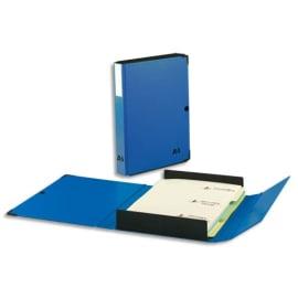 ARIANEX Chemise Innovation, dos 8 cm, trieur 9 onglets, recouverte de PVC Bleu, coins métal photo du produit