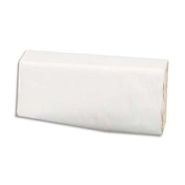 Colis de 15 Paquets de 250 Essuie-mains neutre enchevêtrés 2 plis en V, Format 23 x 25 cm Distributeur H3 photo du produit