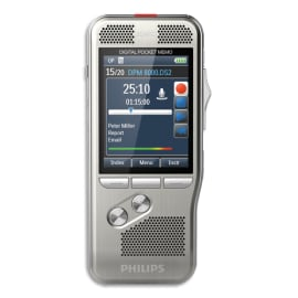 PHILIPS Pocket Mémo DPM8000/02 bouton 4 positions,carte SD,log ProDictate,station ACC8120,batt ACC8100 photo du produit