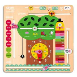 CAYRO Horloge calendrier en bois, jours, mois, saisons photo du produit