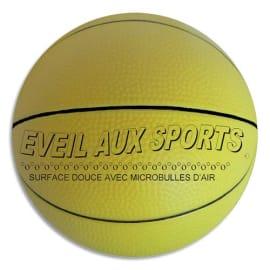 FIRST LOISIRS Ballon de basket mousse de PVC 17,8cm, 200g éveil au sport. Parfait pour apprendre photo du produit