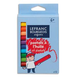 LEFRANC & BOURGEOIS Boîte 12 pastels à l'huile. Coloris assortis photo du produit