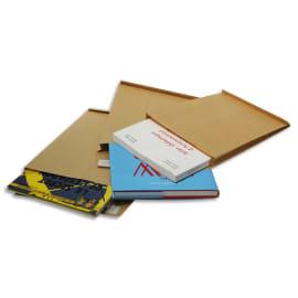 BONG Paquet de 50 pochettes kraft Milleraies auto-adhésives 120g 3 soufflets 229x324mm C4 fenêtre 50x110 photo du produit