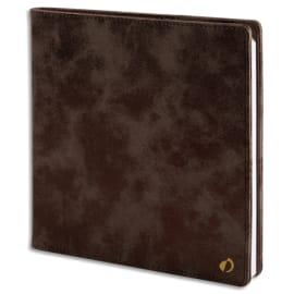 QUO VADIS Agenda Nacre Executif 1S/2P + répertoire - format 16 x 16 cm couverture nacrée Noire photo du produit