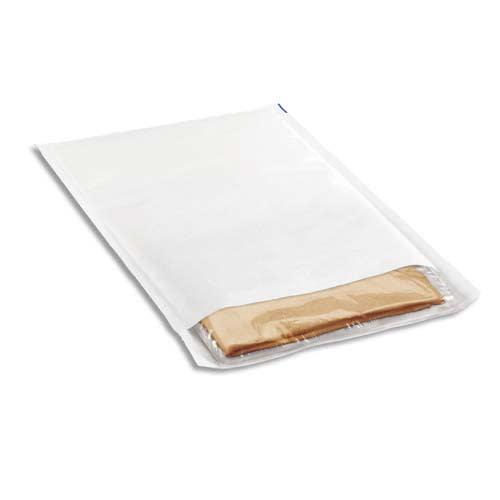 Paquet de 10 pochettes matelassées en kraft Blanches bulles format 27 x 36 cm photo du produit Principale L