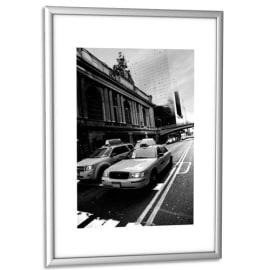 PAPERFLOW Cadre photo contour aluminium coloris Argent, plaque en plexiglas. Format 21 x 30 cm photo du produit