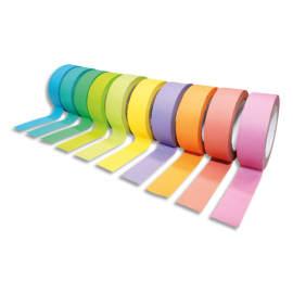 SODERTEX Pack de 10 Rubans adhésifs Thème Rainbow Pack Assortis - Dimensions : H15 mm x L10 m photo du produit