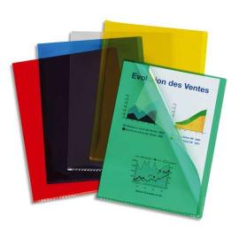 ESSELTE Boîte de 100 pochettes coins en pvc 20/100e assortis 420103 photo du produit