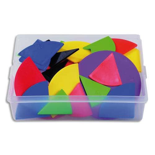 Coffret contenant 51 sets de fractions en plastique souple couleurs assorties photo du produit Principale L