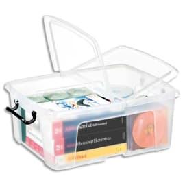 CEP Boîte de rangement Smart Box Strata avec couvercle clipsé dims int.317x40,2x17,5cm transparent 24L photo du produit