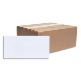 BONG Boîte de 500 enveloppes NF DL 110x220mm vélin Blanc 80g auto-adhésive 10691 photo du produit