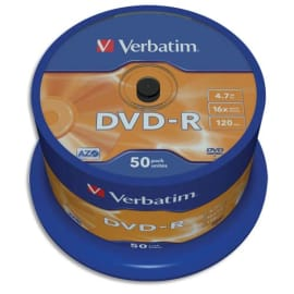 VERBATIM tour de 50 DVD-R 16x 43548 photo du produit