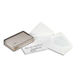GPV Boîte cristal de 100 enveloppes gomme format 90x140 mm photo du produit