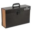 BANKERS BOX Trieur malette 19 compartiments, structure carton, poignée de transport, coloris Noir photo du produit