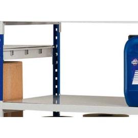 PAPERFLOW Lot 3 plaques pour rayonnage Rang Eco + en métal - Dimensions L100 x H7 x P60 cm coloris acier photo du produit