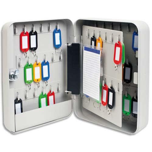 Armoire à clés capacité 60 clés Grise - Dimensions : L18 x H25 x P8 cm photo du produit Principale L
