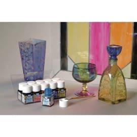 LEFRANC & BOURGEOIS Lot de 10 x 50ml de peinture vitrail couleurs assorties photo du produit