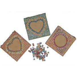 Kit de 12 cadres photo 9 x 9 cm à décorer avec mosaïque 1 x 1 cm assortie fournie photo du produit