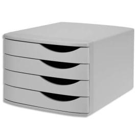 JALEMA Module de classement 4 tiroirs, 100% recyclé polystyrène - Dimensions L30 x H21,6 x P37,5 cm Gris photo du produit
