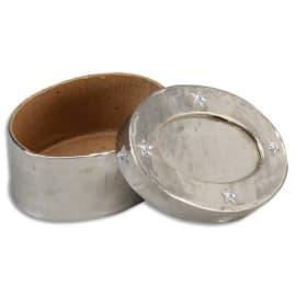 O COLOR Paquet de 12 feuilles métal à repousser recto/verso or/argt 21x30cm photo du produit