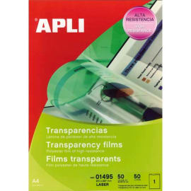 APLI Film transparents pour imprimante Laser Couleurs B/50 photo du produit