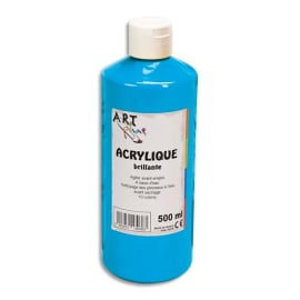 ART PLUS Acrylique brillante 500ml Bleu primaire photo du produit