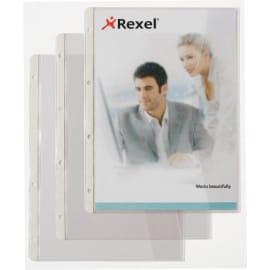 HETZEL Sachet de 5 pochettes perforées A4+ en PVC 13/100eme à rabat latéral vertical. Coloris transparent photo du produit