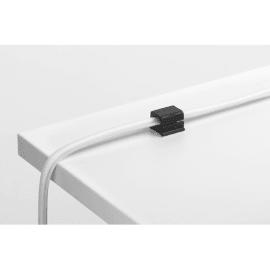 DURABLE Pack de 4 clips adhésifs pour câble CAVOLINE® CLIP PRO 2 Graphite 5043-37 photo du produit