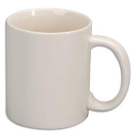 O COLOR Lot de 6 mugs en céramique émaillée de haute qualité. A décorer photo du produit