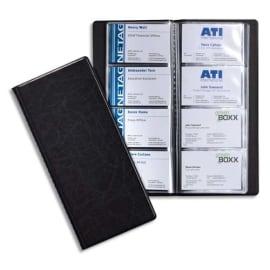 DURABLE Porte-cartes Visifix album pour 192 cartes de visite aspect grain de cuir Noir - L115 x H253 mm photo du produit