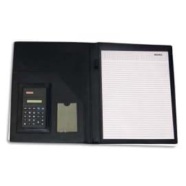 PAVO Conférencier A4 PVC avec calculatrice - Dimensions : L32,5 x H25 x P2,5 cm coloris Noir photo du produit