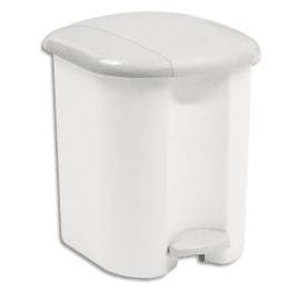 RUBBERMAID Collecteur Blanc à pédale, capacité 15 litres en platsique - Dim. : L32,2 x H39 x P31,4 cm photo du produit