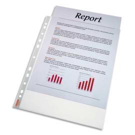ESSELTE Sachet de 100 pochettes perforées A4 polypropylène grainé 4.8/100e incolore photo du produit