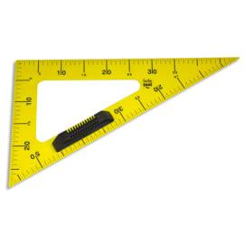 WONDAY Equerre 60° en plastique incassable Jaune graduée 50cm avec poignée Noire amovible pour tableau photo du produit