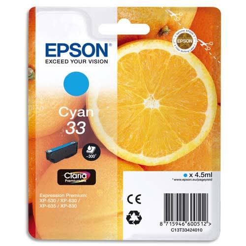 EPSON Cartouche Jet d'encre Cyan C13T33424010 photo du produit Principale L