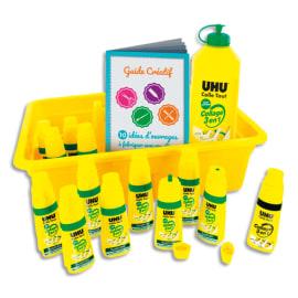 UHU Schoolpack de 12 flacons Twist and Glue + recharge 500ml photo du produit