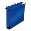 OBLIQUE AZ Paquet de 10 dossiers suspendus TIROIR en polypro opaque 5/10e. Fond 80, bouton-pression. Bleu photo du produit