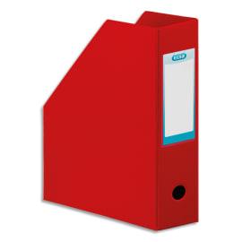 OXFORD Porte-revues en PVC soudé, dos de 10 cm 32x24cm, livré à plat. Coloris rouge photo du produit