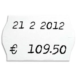 AGIPA Boîte de 6 rouleaux de 1000 étiquettes permanentes Blanches sinusoïdales 26x16mm 100922 photo du produit