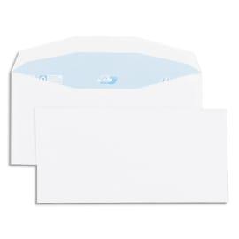 GPV Boîte de 1000 enveloppes 114x229mm Blanches 80g photo du produit