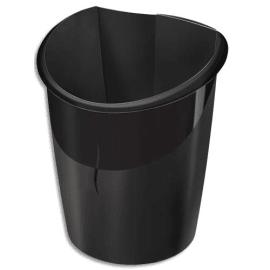 CEP Corbeille à papier Ellypse 320R, Dimensions L27,8 x H38 x P31,8 cm, Graphite photo du produit