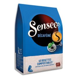 SENSEO Paquet de 40 dosettes de café moulu Décaféiné 277g, environ 6,9g par dosette photo du produit