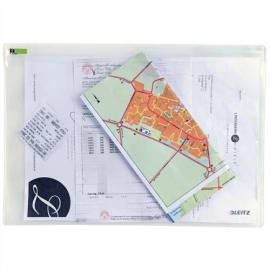 LEITZ Sachet de 2 pochettes enveloppe à zip Traveller PVC 2/10è, format L, coloris transparent photo du produit