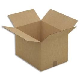 Paquet de 25 caisses américaines simple cannelure en kraft brun - Dimensions : 40 x 27 x 30 cm photo du produit