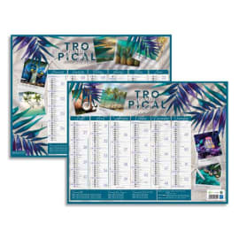 CBG Calendrier Exotique médium, 7 mois par face soit 14 mois - format : 32 x 42 cm photo du produit