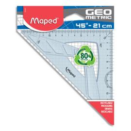 MAPED Sachet brochable d'1 équerre GEOMETRIC 45°/21 cm photo du produit