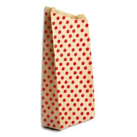 CLAIREFONTAINE Sachet de 50 pochettes cadeau en kraft. Format 21x37+7cm. Impression pois photo du produit
