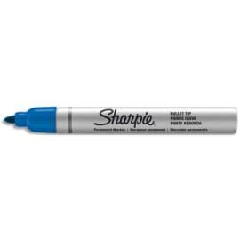 SHARPIE Marqueur Indélébile pointe Ogive moyenne Bleu, corps métal photo du produit