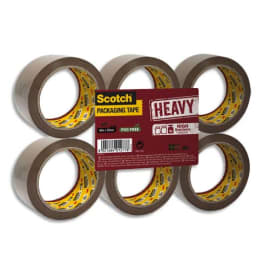 SCOTCH Adhésif d'emballage Heavy en polypropylène 57 microns - H50 mm x L66 mètres Havane BP975 photo du produit