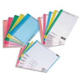 OBLIQUE AZ Sachet de 10 planches étiquettes n°8 réversibles pour dossiers suspendus armoire. Coloris Bleu photo du produit